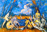 Paul Cezanne Large Bathers 2 Art Print Poster Masterprint