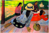 Paul Gauguin Afternoon Quiet Hour Art Print Poster Prints
