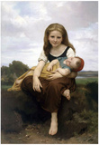 William-Adolphe Bouguereau The Elder Sister Art Print Poster Prints