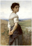 William-Adolphe Bouguereau The Young Shepherdess Art Print Poster Posters