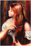 Pierre Auguste Renoir Combing Girl Art Print Poster Poster