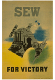 WPA (Sew for Victory) Art Poster Print Posters