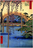Utagawa Hiroshige Tenjin Shrine Art Print Poster Prints