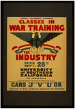 WPA (Classes in War Training for Industry) Art Poster Print Posters