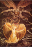 William Blake (The great red dragon and the woman clothed with the sun) Art Poster Print Poster
