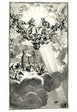 William Hogarth (Illustrations to John Milton Paradise Lost, Heavenly Assembly) Art Poster Print Prints