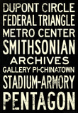 Washington DC Metro Stations Vintage RetroMetro Travel Poster Masterprint