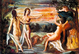 Paul Cezanne Judgement of Paris Art Poster Masterprint