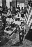 Pledging Allegiance Oliver Wendell Holmes School Dorchester Mass Archival Photo Poster Posters