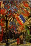 Vincent Van Gogh The Fourteenth of July Celebration in Paris Art Print Poster Posters