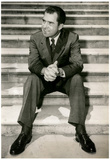 President Richard Nixon Sitting on Steps Archival Photo Poster Print Posters