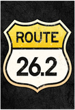 Route 26.2 Marathon Sports Poster Posters