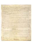 U.S. Constitution Page 3 Art Poster Print Posters