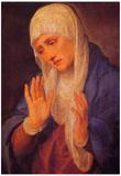 Titian Madonna Dolorosa Art Print Poster Poster
