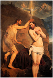 Pieter Fransz de Grebber Baptism of Christ Art Print Poster Photo