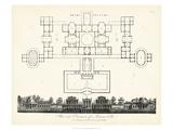 J. Wilkes - Plan and Elevation for a Roman Villa - Reprodüksiyon