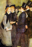 Pierre Auguste Renoir Leaving the Conservatoire Art Print Poster Masterprint
