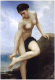 William-Adolphe Bouguereau After the Bath Art Print Poster Prints