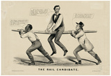 The Rail Candidate Political Cartoon Art Print Poster Print