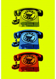 Vintage Rotary Telephone Pop Art Print Poster Masterprint