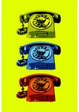 Vintage Rotary Telephone Pop Art Print Poster Masterprint