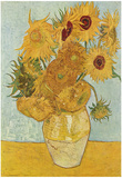 Vincent Van Gogh (Vase with Twelve Sunflowers) Art Poster Print Posters