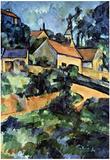 Paul Cezanne Road Curve in Montgeroult Art Print Poster Prints