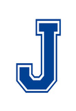 Varsity Letter J Make Your Own Banner Sign Poster Masterprint