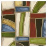 Stained Glass Abstraction II Reproduction giclée Premium par Karen Deans