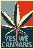 Yes We Cannabis Marijuana Poster Masterprint