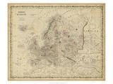 Johnson's Map of Europe Prints