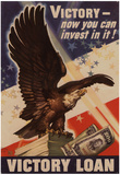 Victory Now Your Can Invest In It Victory Loan WWI War Propaganda Art Print Poster Posters