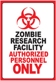 Zombie Research Facility Art Poster Print Prints