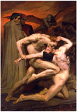 William-Adolphe Bouguereau Dante And Virgil In Hell Art Print Poster Print