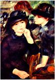Pierre Auguste Renoir Two Girls in Black Art Print Poster Print