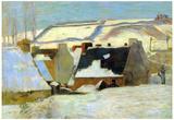 Paul Gauguin Breton Village in Snow Art Print Poster Prints