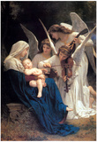 William-Adolphe Bouguereau Song of the Angels Art Print Poster Print