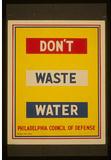 WPA (Don't Waste Water) Art Poster Print Masterprint
