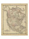 Johnson's Map of North America Reprodukcje