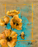 Golden Artistic Poppy I Art by Patricia Quintero-Pinto