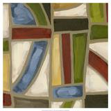 Stained Glass Abstraction IV Reproduction giclée Premium par Karen Deans