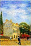 Vincent Van Gogh The Rispal Restaurant at Asnieres Art Print Poster Posters