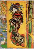 Vincent Van Gogh Japonaiserie Oiran after Kesa Eisen Art Print Poster Posters