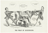 The Folly of Secession Political Cartoon Art Print Poster Prints