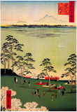 Utagawa Hiroshige View to the North from Asukayama Art Print Poster Print