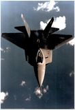 YF-22 Fighter (In Sky) Art Poster Print Prints