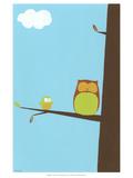 Treetop Owls II Kunstdrucke von Erica J. Vess