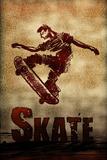 Skateboarding Skate Sketch Sports Poster Print Masterprint
