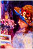 Pierre-Auguste Renoir Girl Reading Art Print Poster Posters