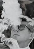 President John F Kennedy Smoking Archival Photo Poster Print Plakater